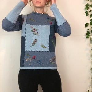 Classic Elements Embroidered Knitted Sweater